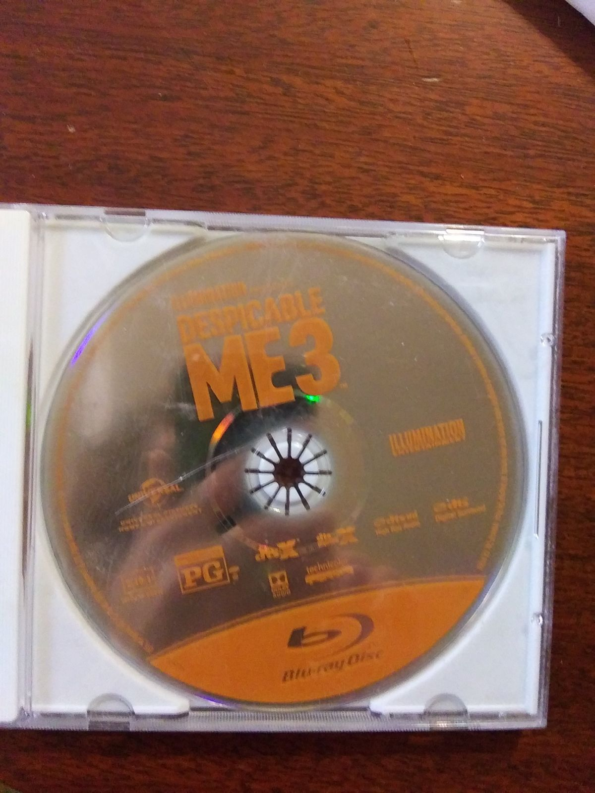 Despicable Me 3 blue ray