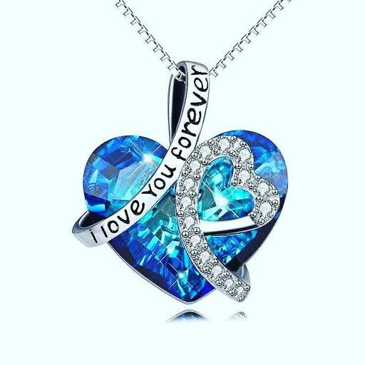 Blue pendant necklace.