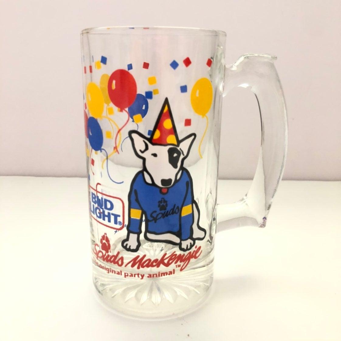 Bud Light Spuds MacKenzie Party Glass