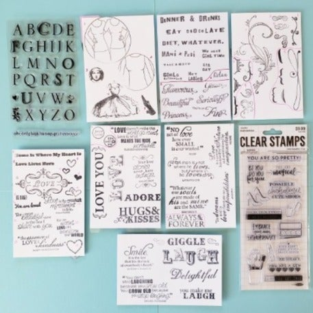 Stamps - Love, Girls, Accents, Shoes