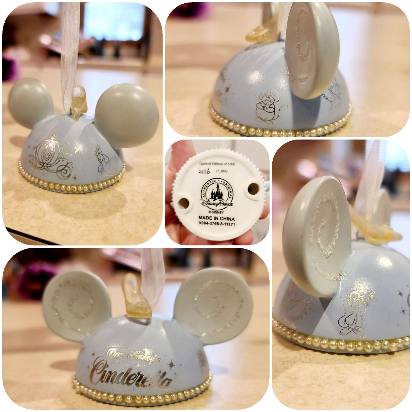LE Disney Cinderella Slipper Ornament