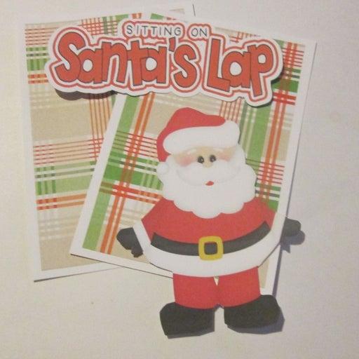 Sitting On Santa's Lap - Scrapbook or Card Set