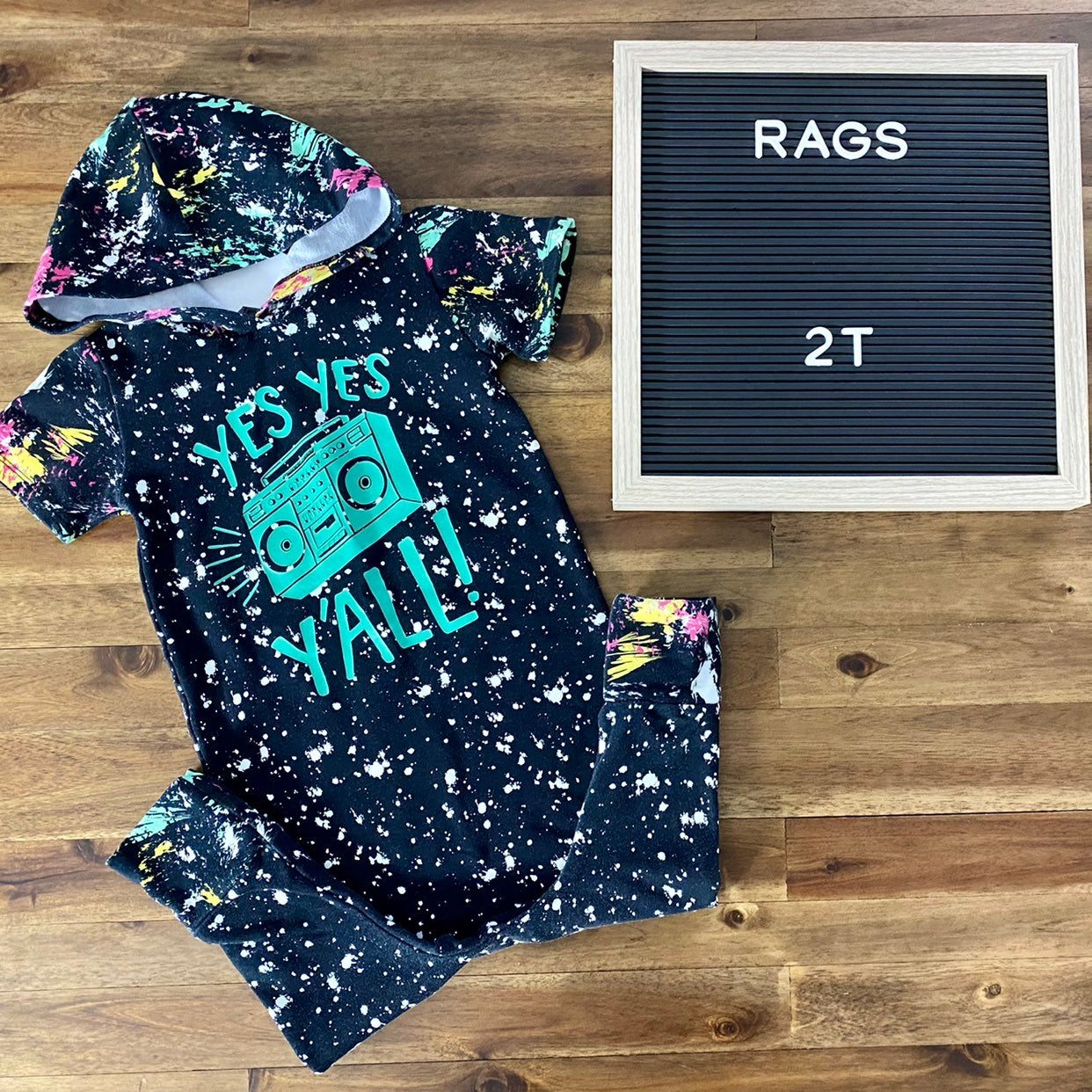 Rags to Raches Yes Yes Y'all Romper 2T