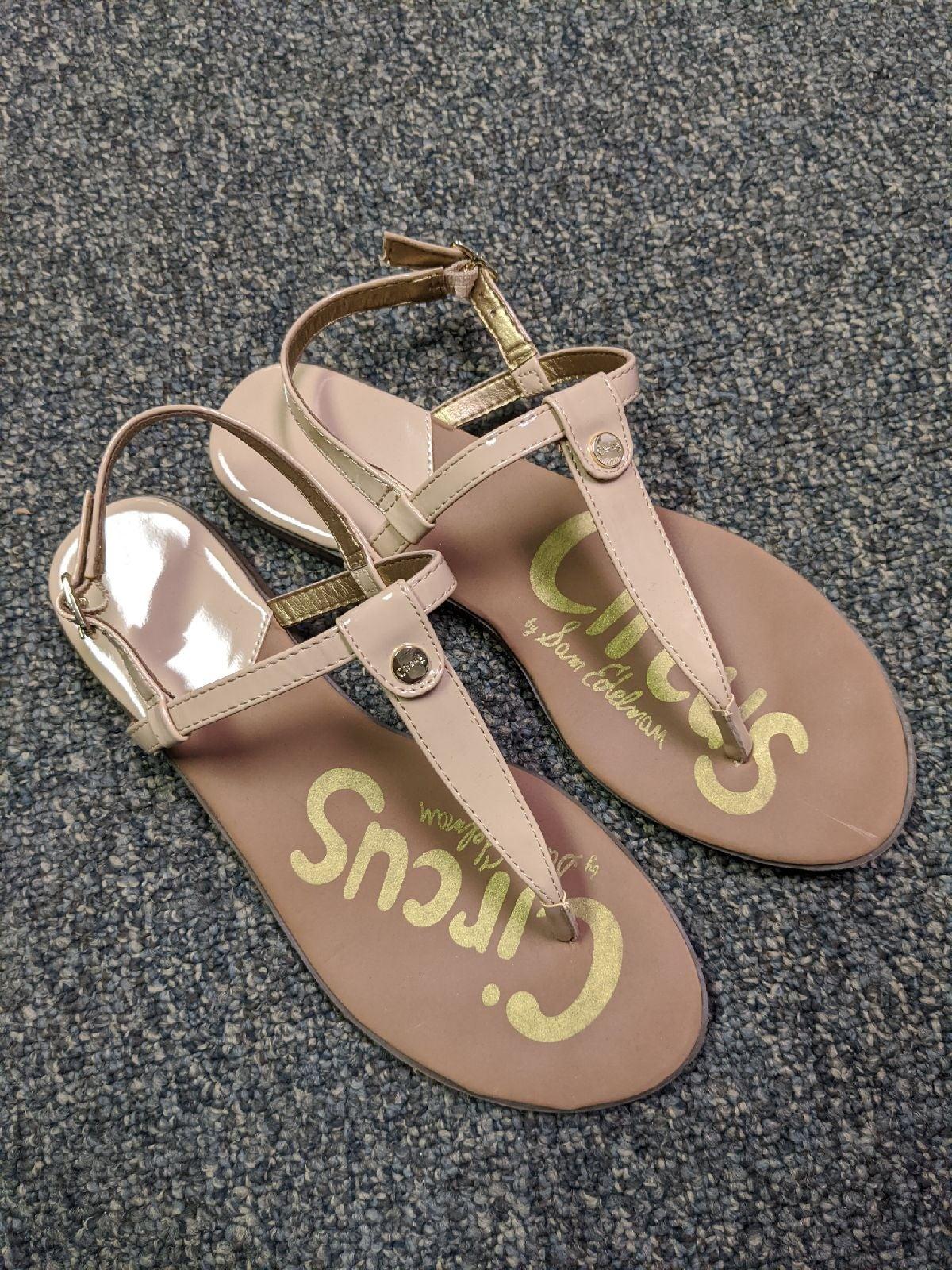 SAM EDELMAN Circus Tan Sandals 7.5