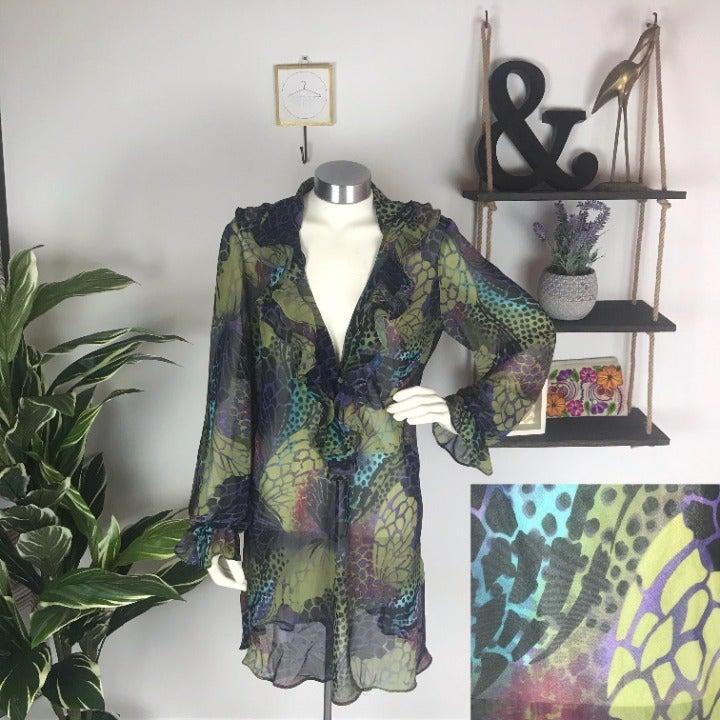Bisou Bisou Abstract Pattern Tunic L