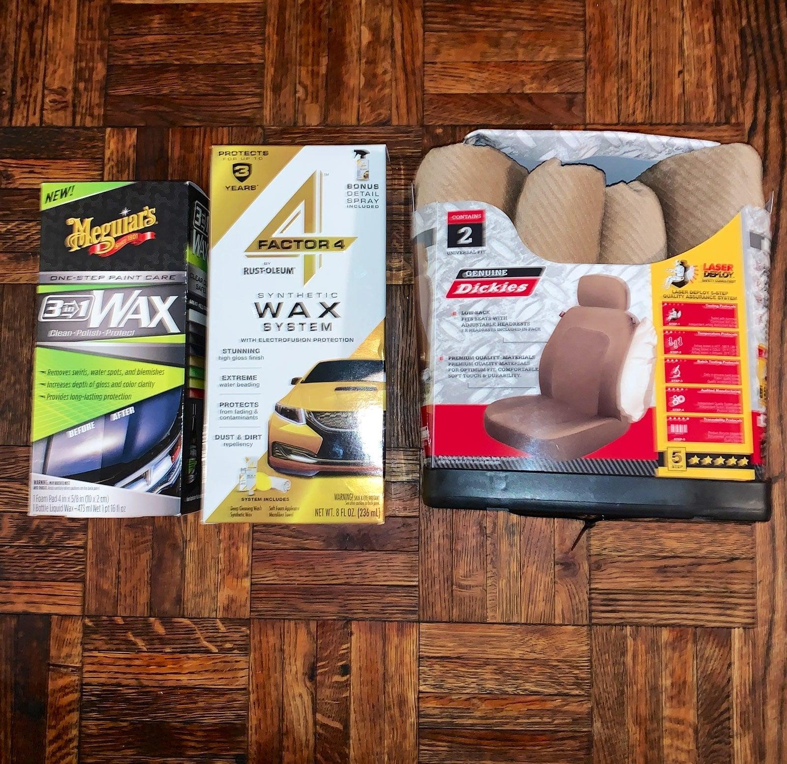 Car care wash wax bundle