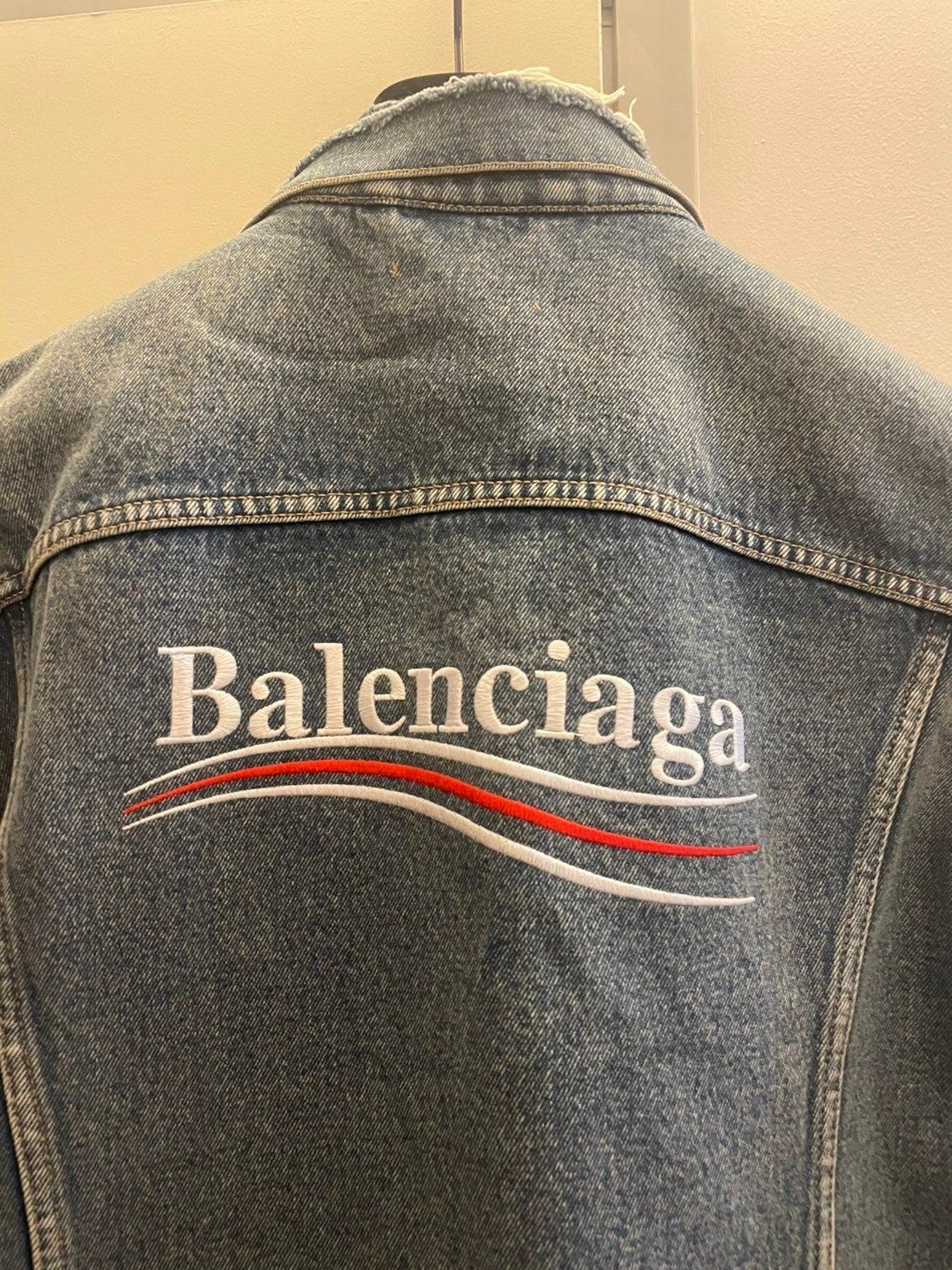 Balenciaga Campaign Denim Jacket Size 50