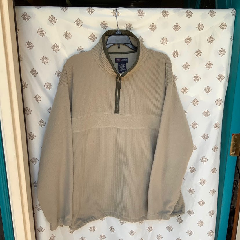 Faded Glory Pullover Thick Khaki Top Lg