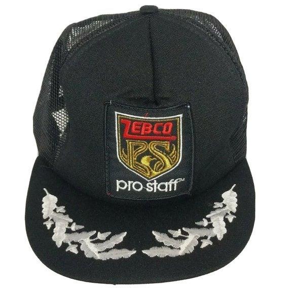 Vintage Zebco Pro Staff Fishing Mesh Hat