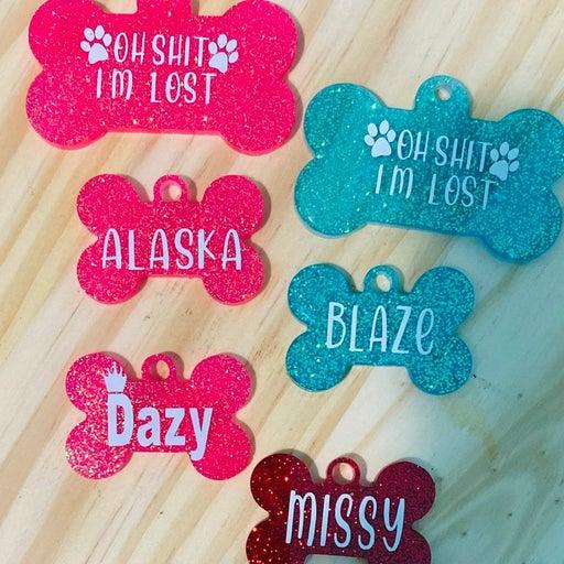 Custom dog tags and car coaster and keyc
