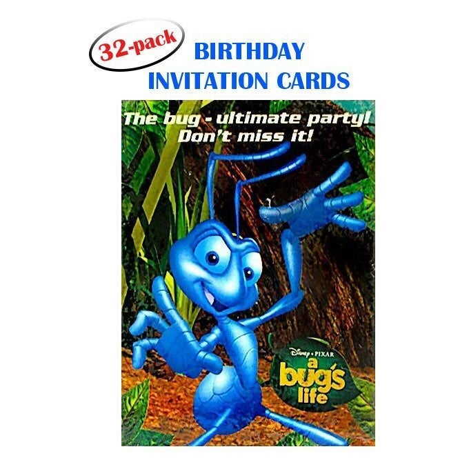 A Bug's Life Invitation Cards (32ct)