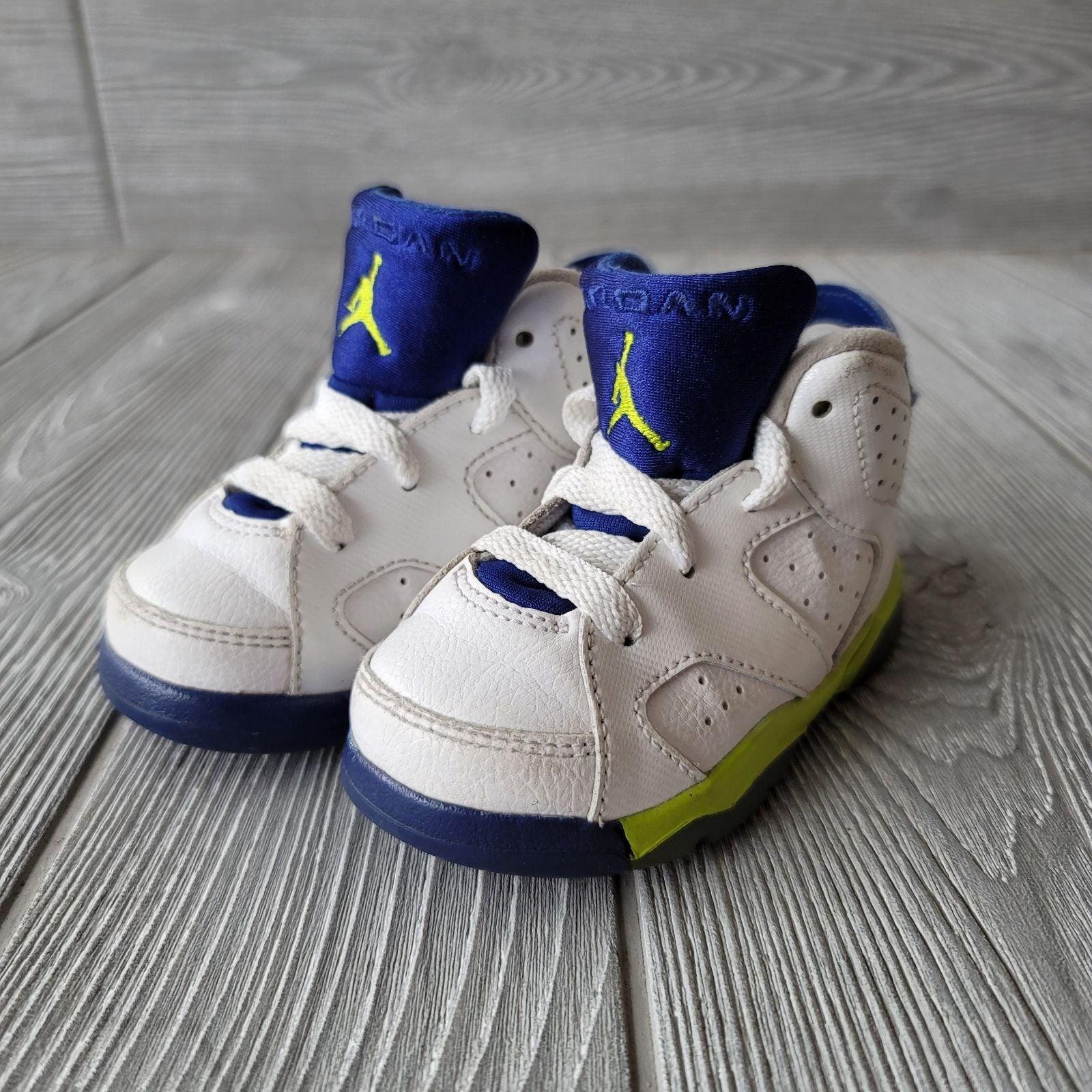 Nike Baby Jordan 6 Retro White Blue
