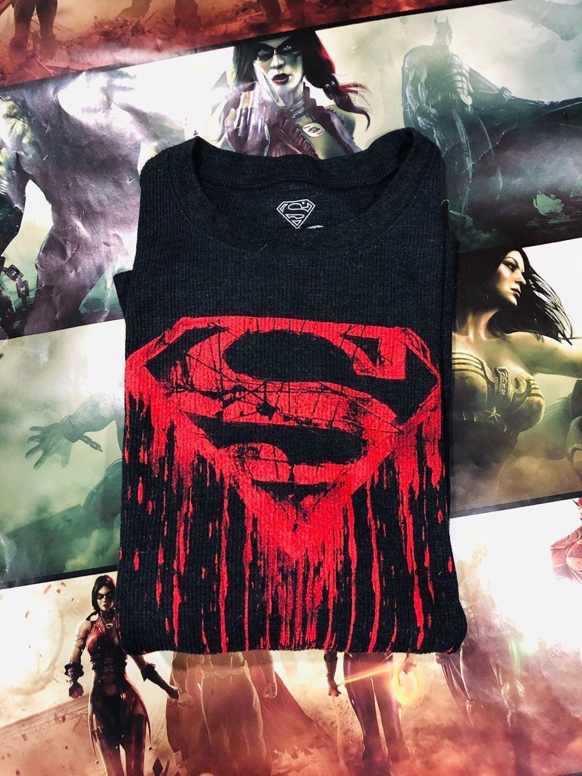 Superman Logo Long Sleeve Shirt