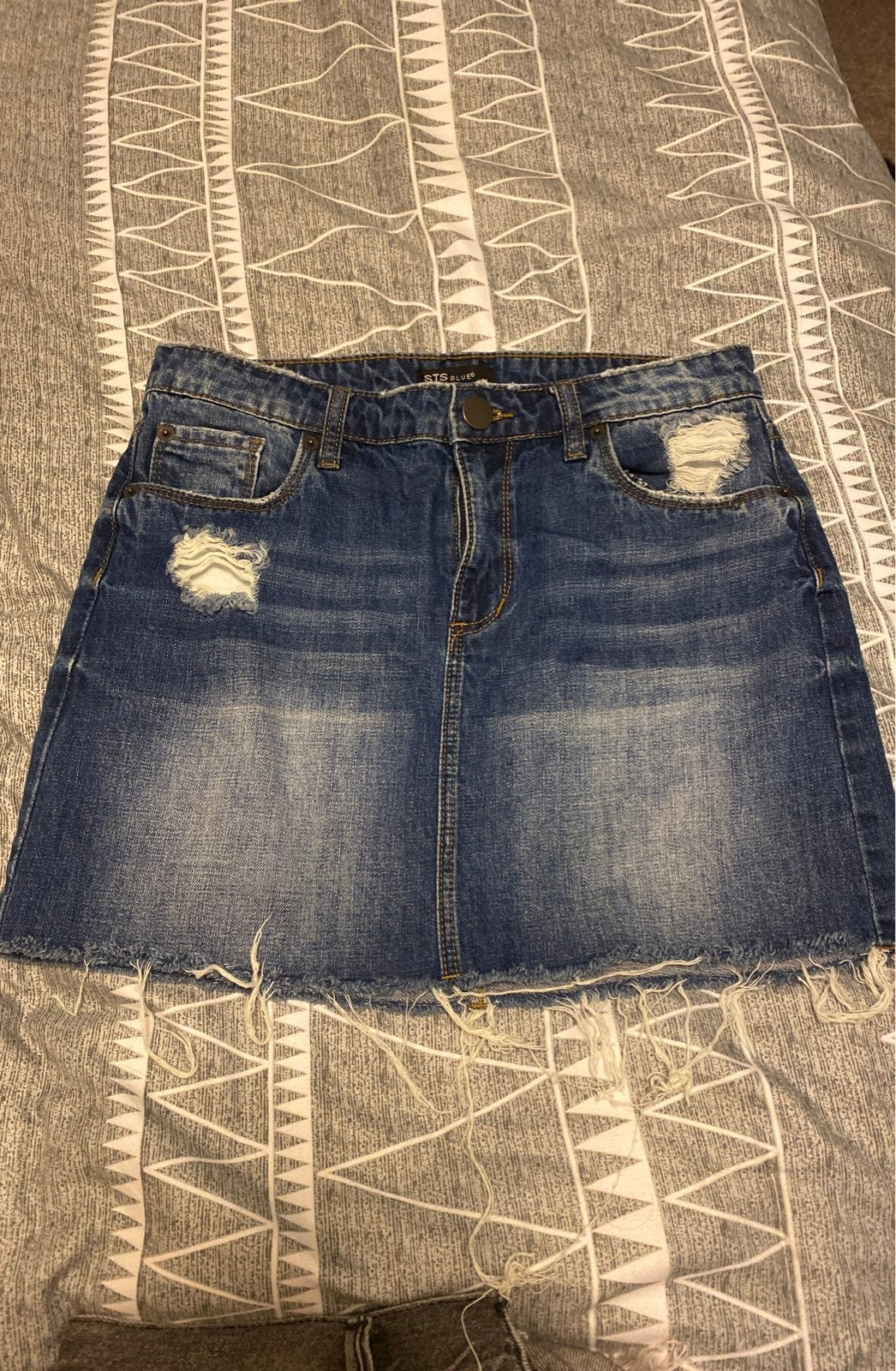 STS Blue Denim Skirt Size 26