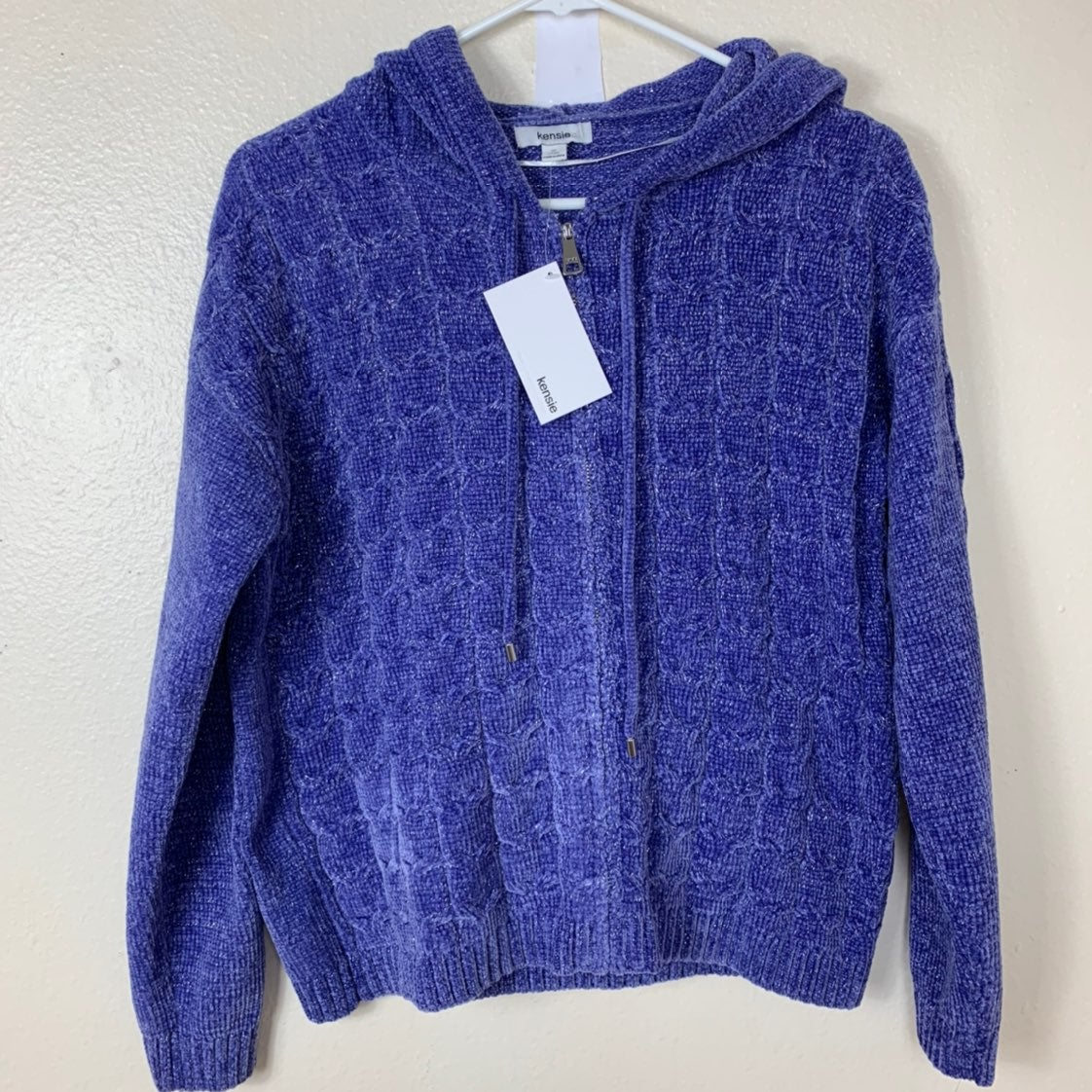 Kensia Sweater Purple Zipper size Small