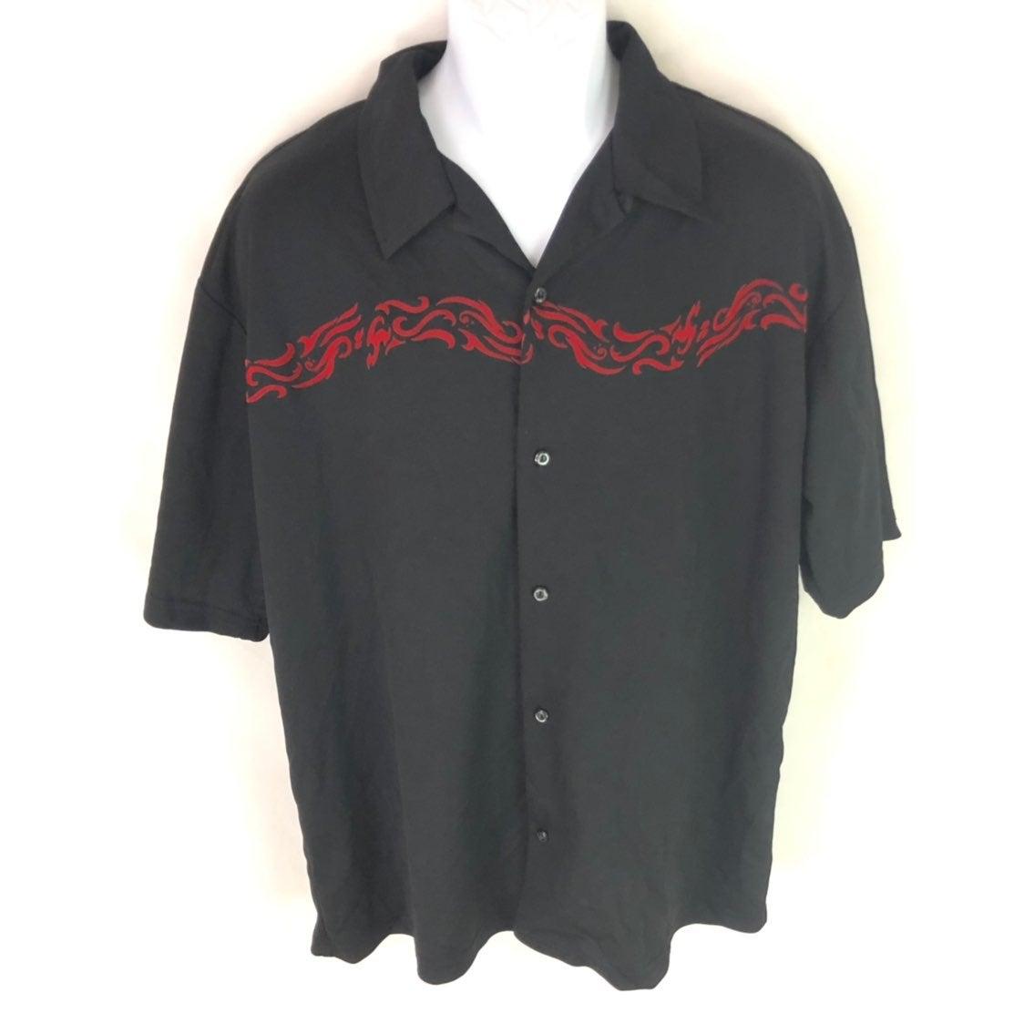 Anchor Blue Men's Black Flame Shirt L