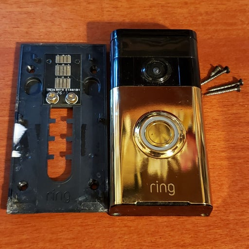 2018 Ring Doorbell Polished Brass