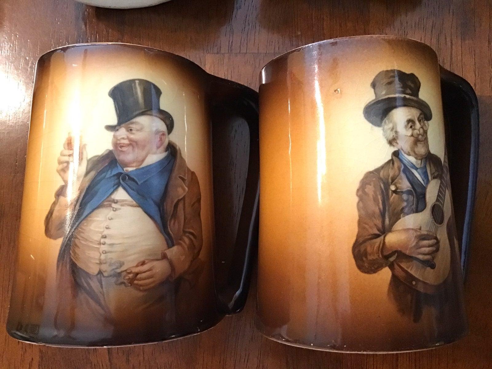 Antique Warwick IOGA mug set ~ 1900