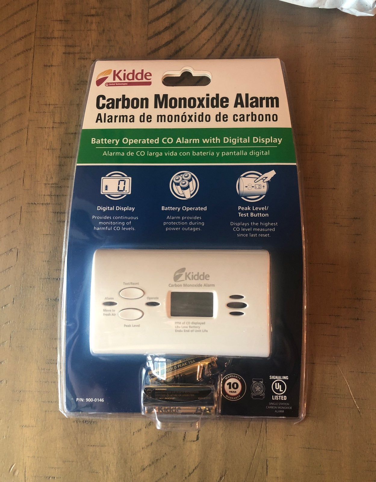Kidde carbon monoxide monitor