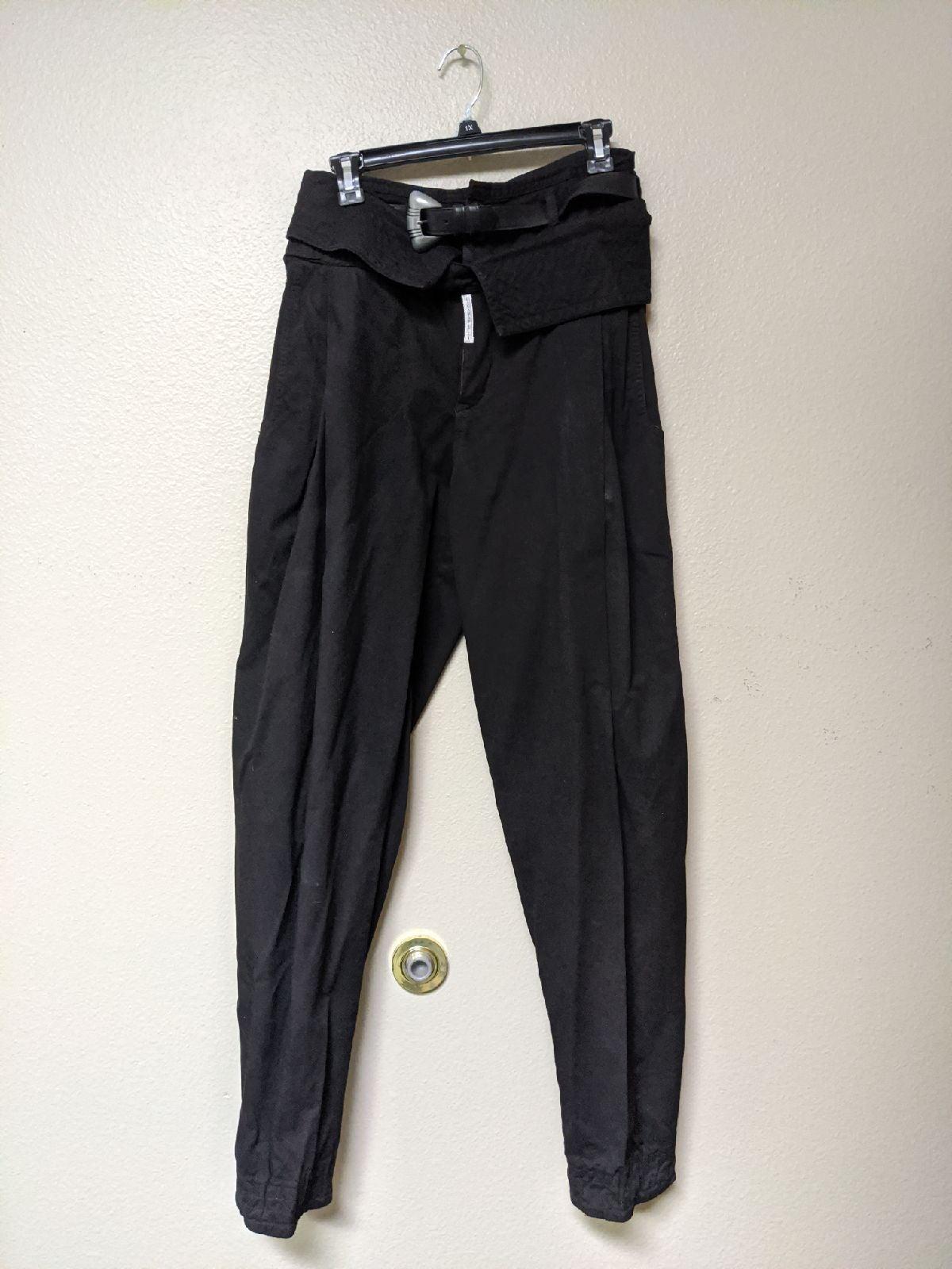 VTG Z CAVARICCI Black Parachute Pants