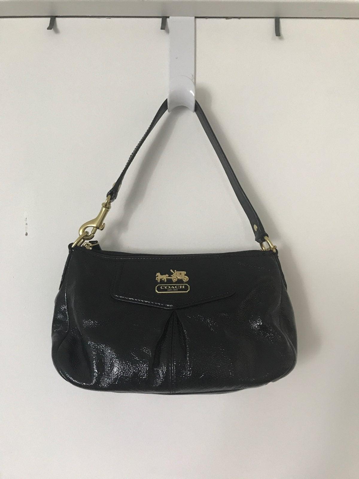Coach Shoulder Bag - Black Pleather