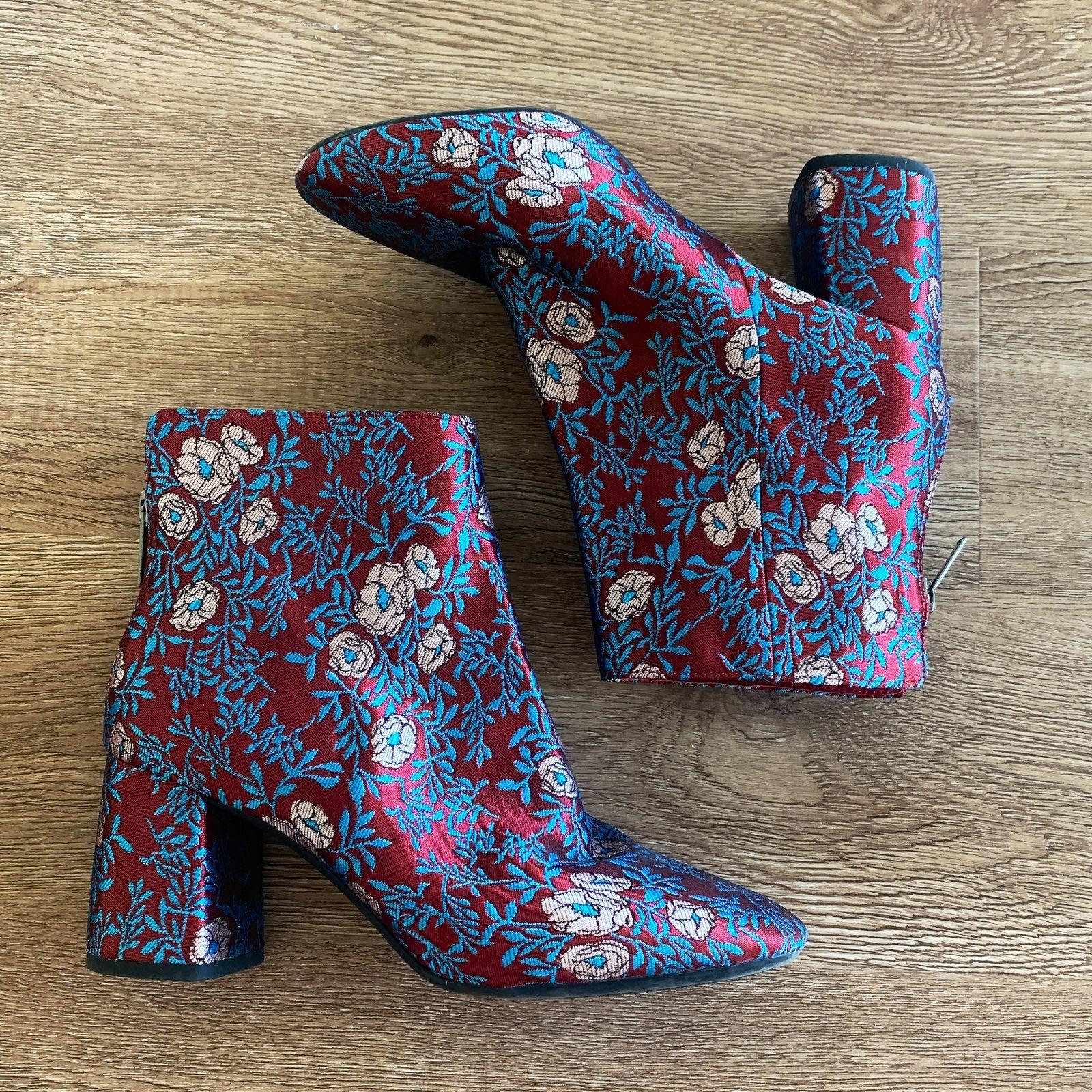 Gianni Bini Floral Booties