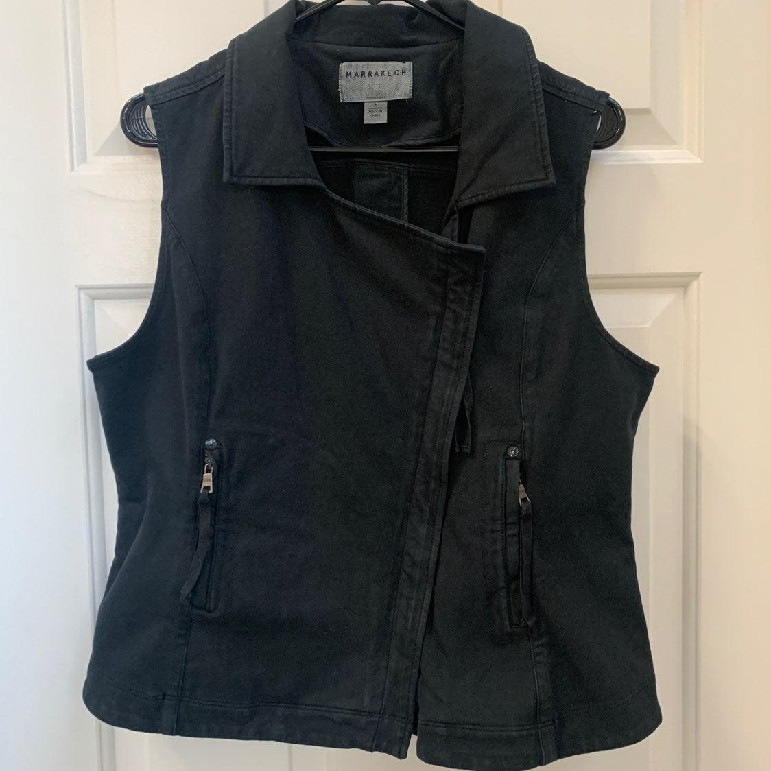 Marrakech Scarlet Black Knit Moto Jacket