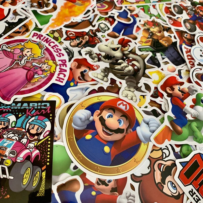 Pack of 20 Super Mario Nintendo Stickers