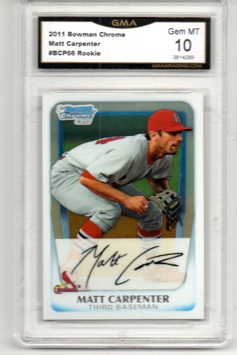 MATT CARPENTER 2011 BOWMAN CHROME ROOKIE