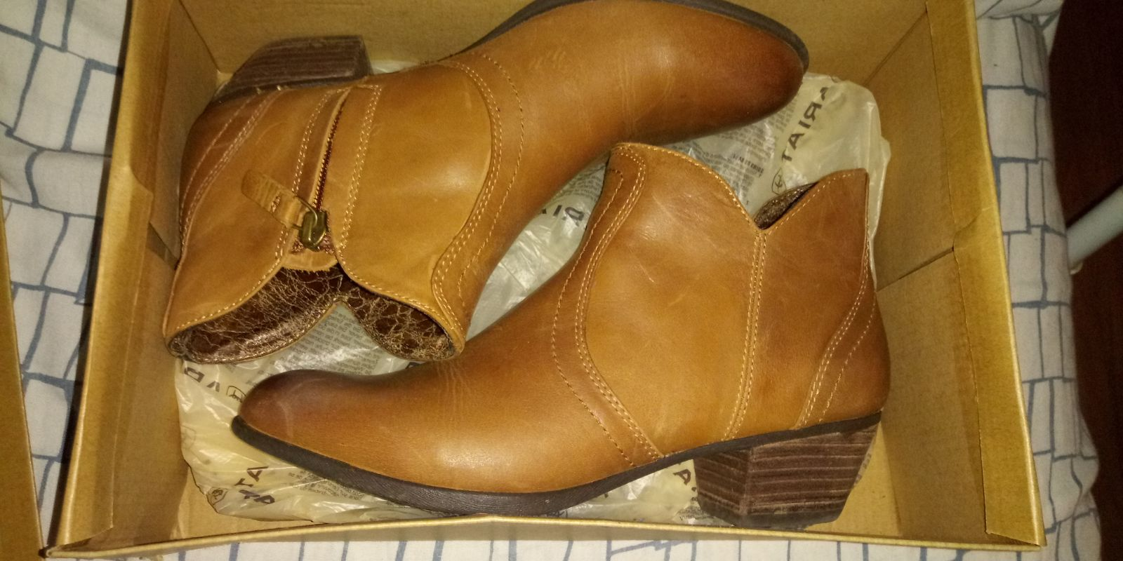Ariat Brand Brown Leather Booties