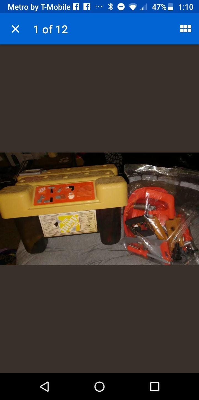 kids toy tools set talking toolbox play