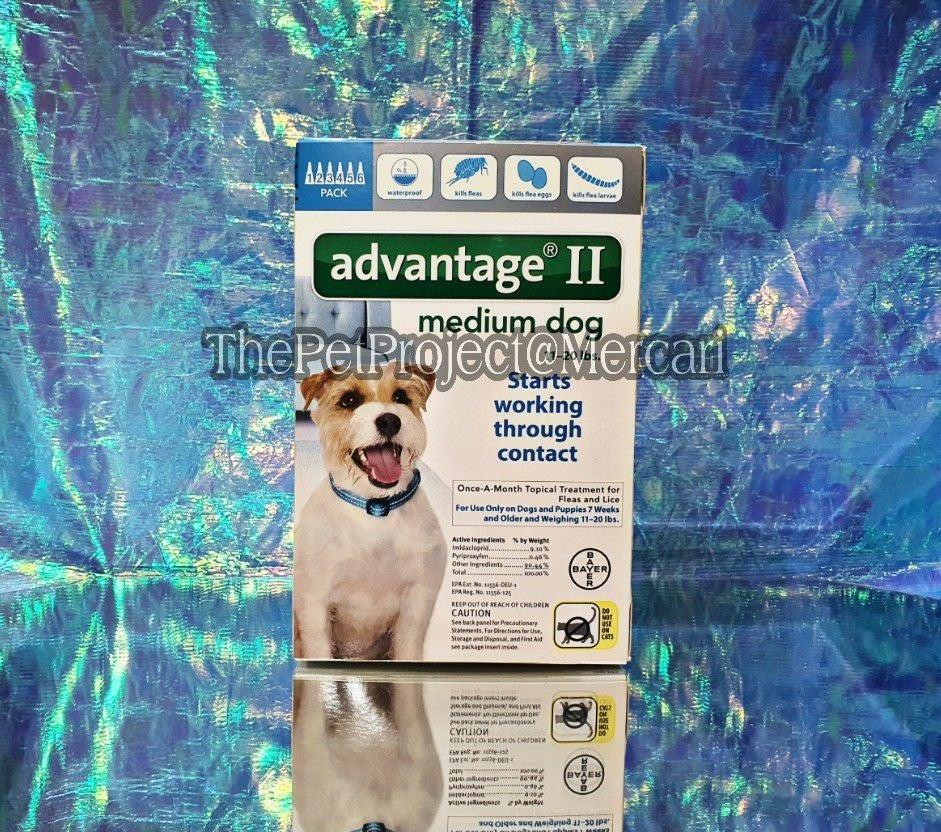 ADVANTAGE II MEDIUM DOG 6 PACK