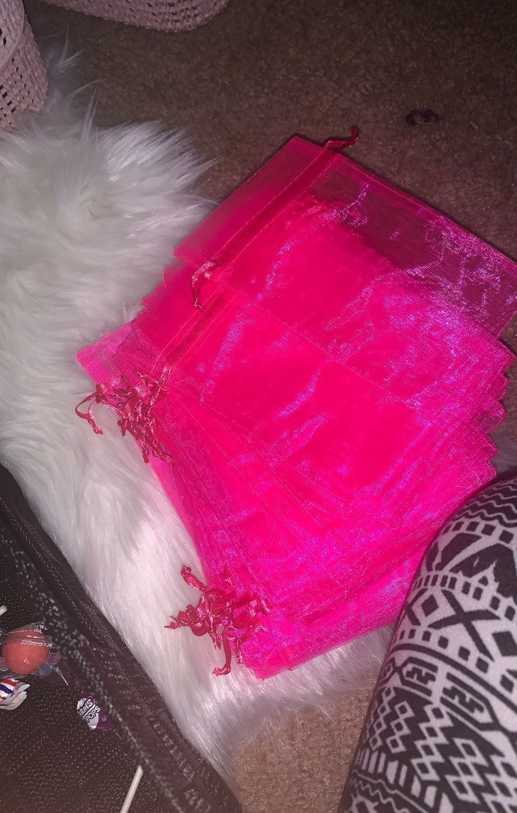 Hot pink bags