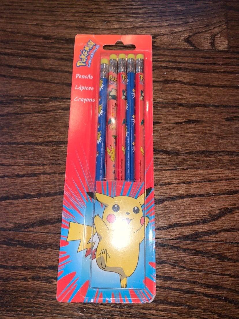 Pokemon nintendo pencils 1999 new