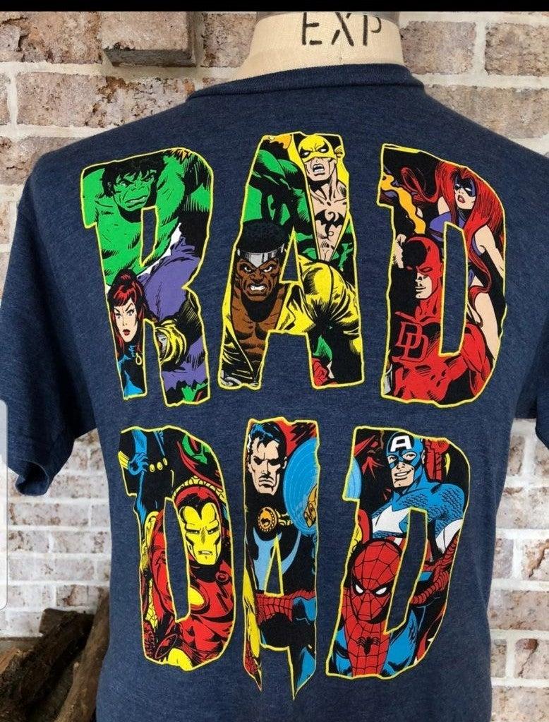 Marvel league t shirt , Rad Dad