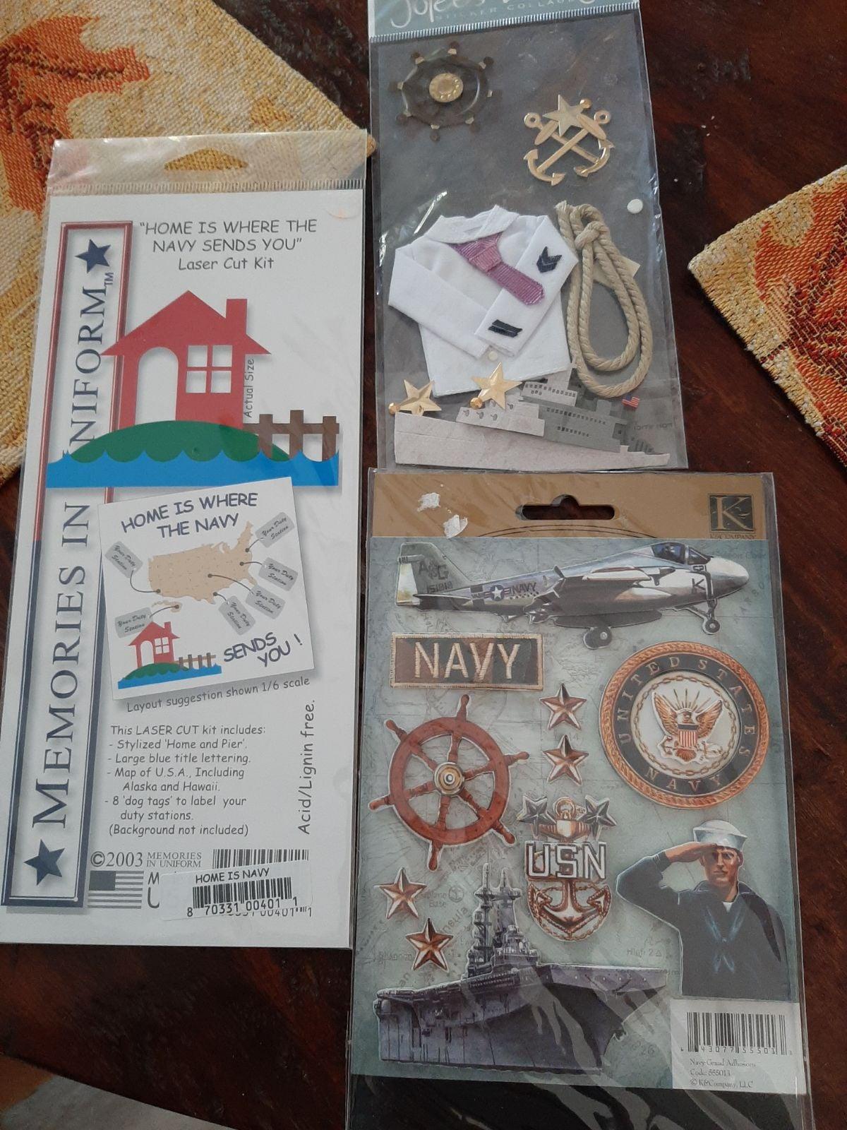 Scrapbooking navy lot. Jolees boutique