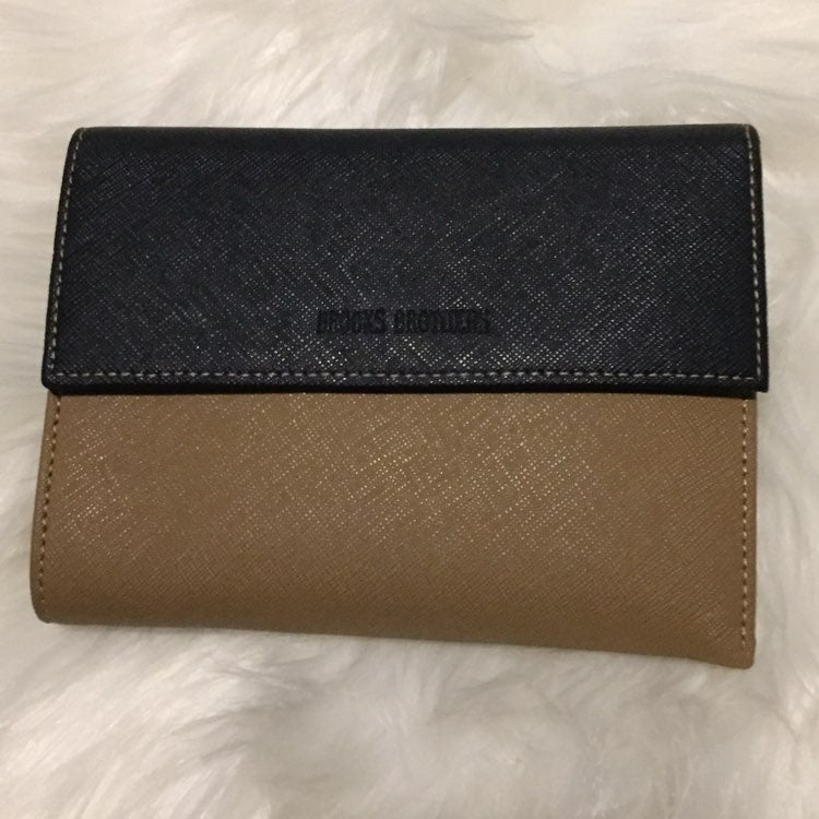 Brooks Brothers Saffiano Leather Trifold