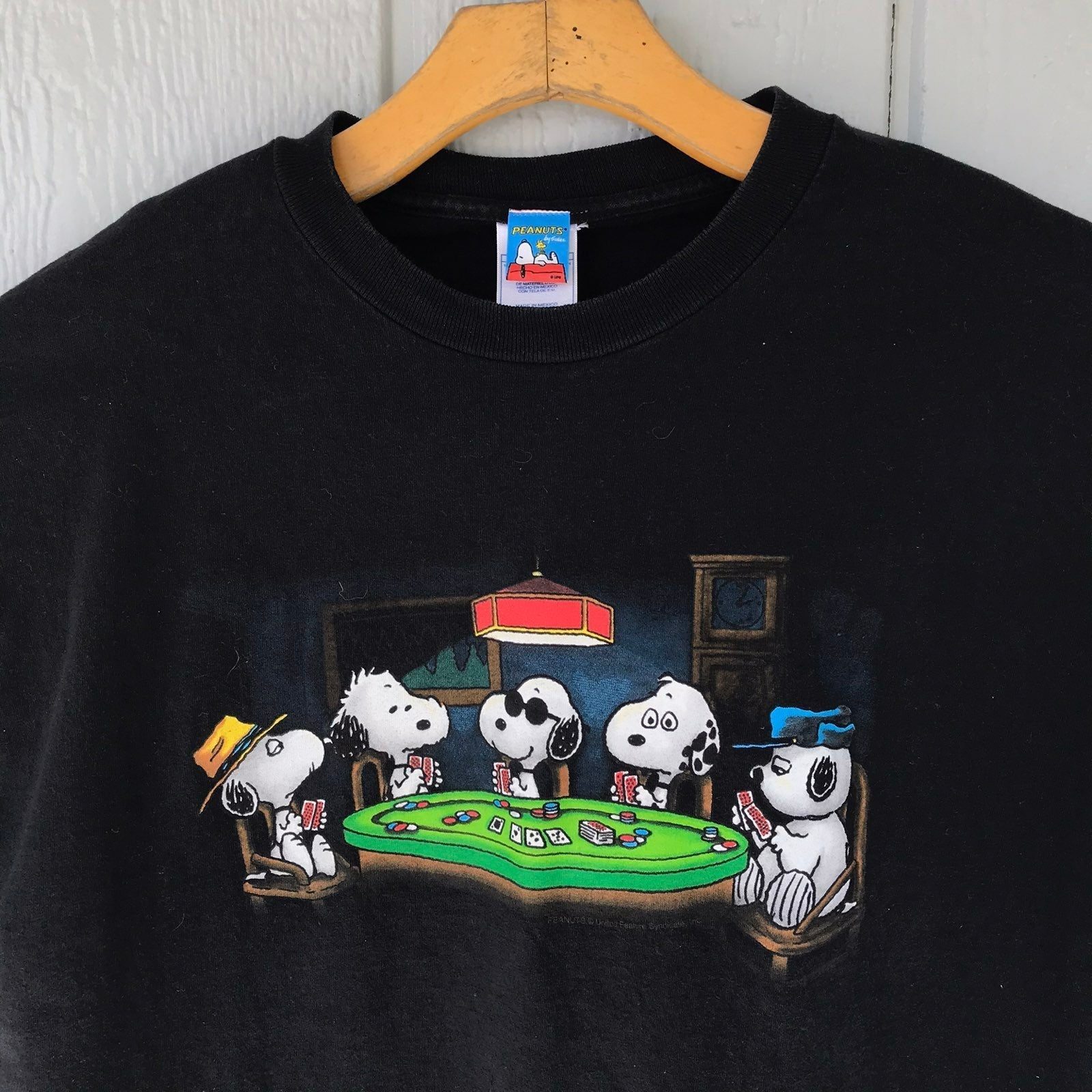Peanuts Snoopy Poker Shirt Cartoon Tee