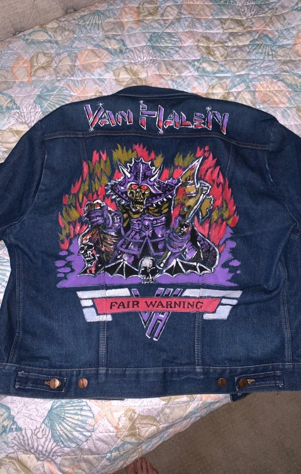 VINTAGE mens denim jacket Van Halen