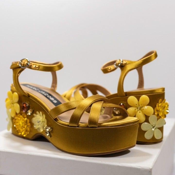 MARC JACOBS Callie Silk Wedge Sandal