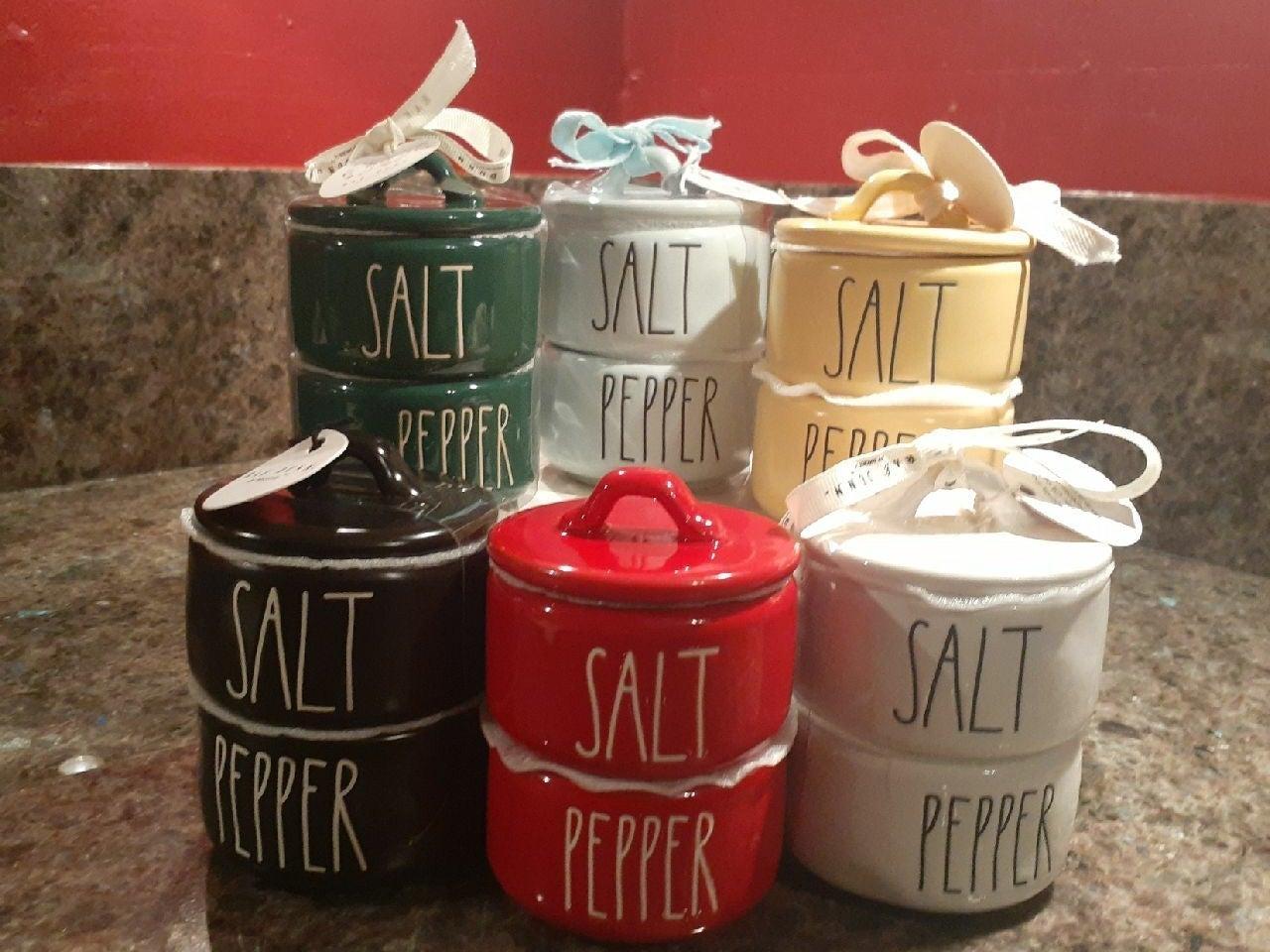 Rae Dunn Salt and Pepper Stackers