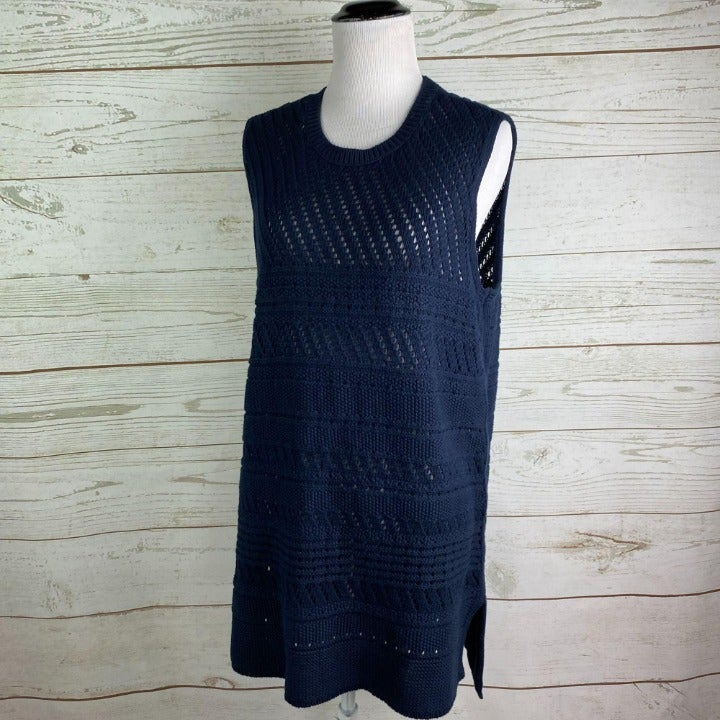 J.Jill Crochet Knit Sweater Vest
