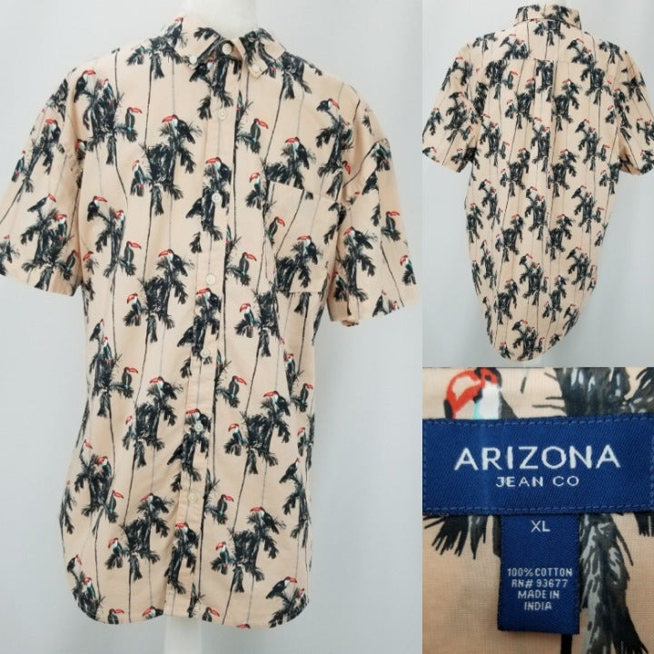 Arizona Toucan Clay 100% Cotton Shirt XL