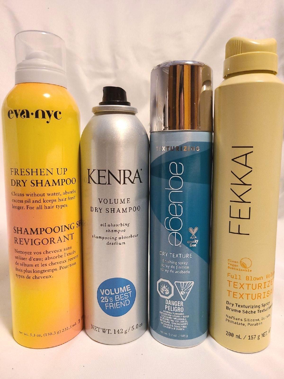 High end dry shampoo and texturizing spr