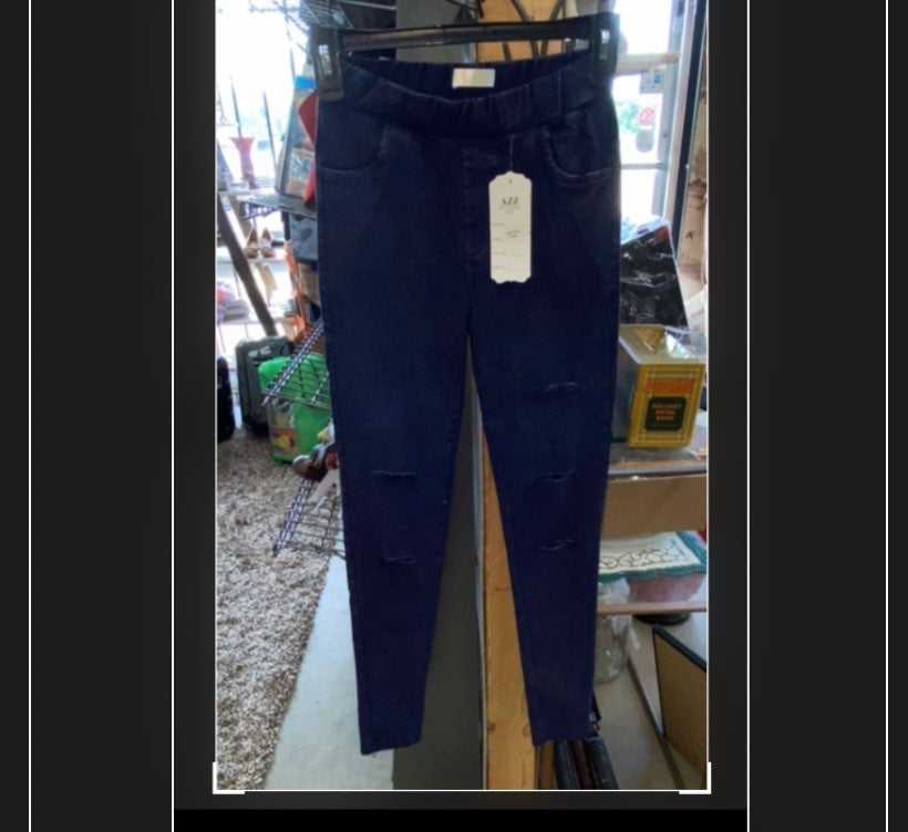 new boutique jeggings with open slits