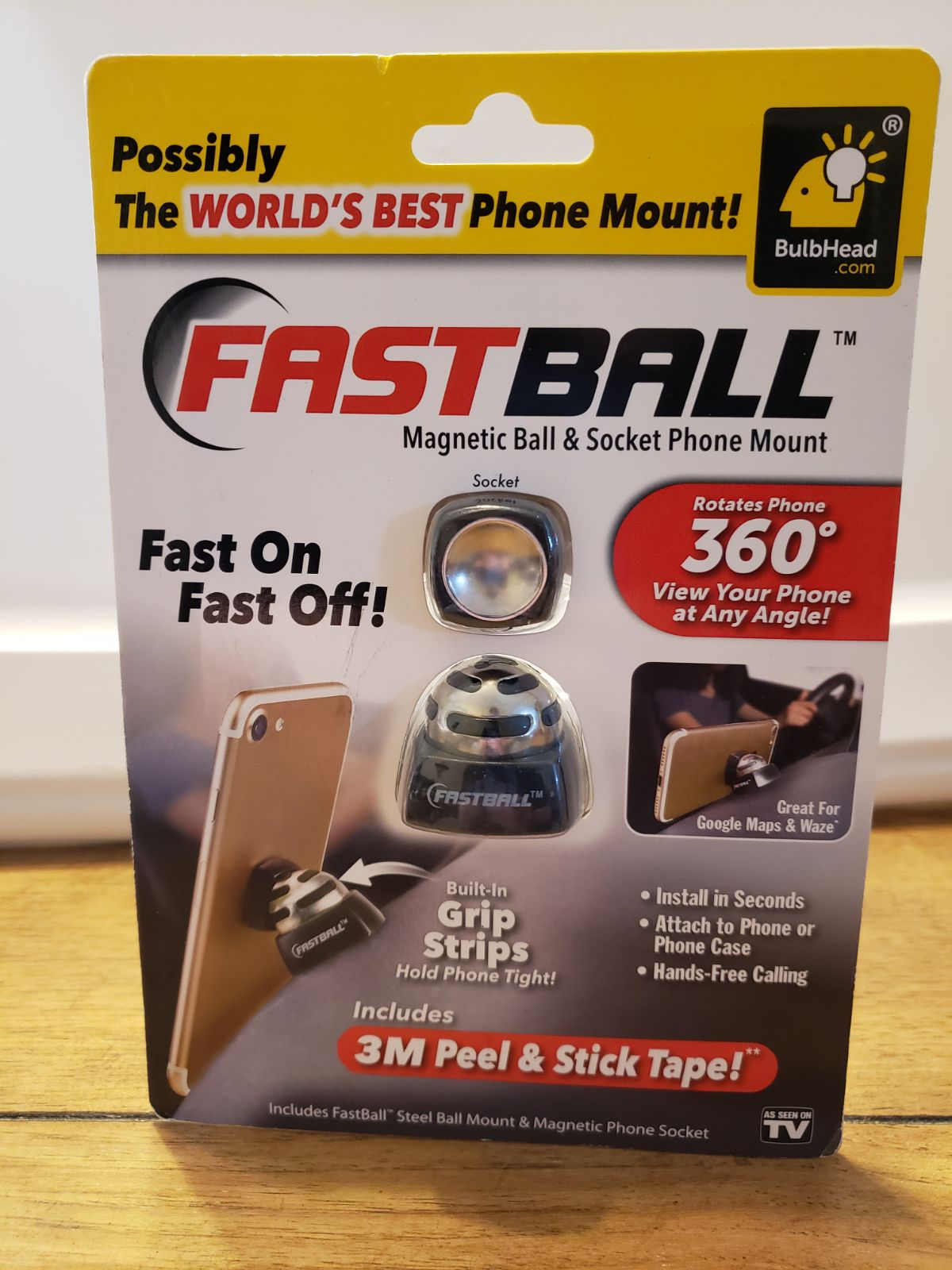 Fast ball magnetic phone mount