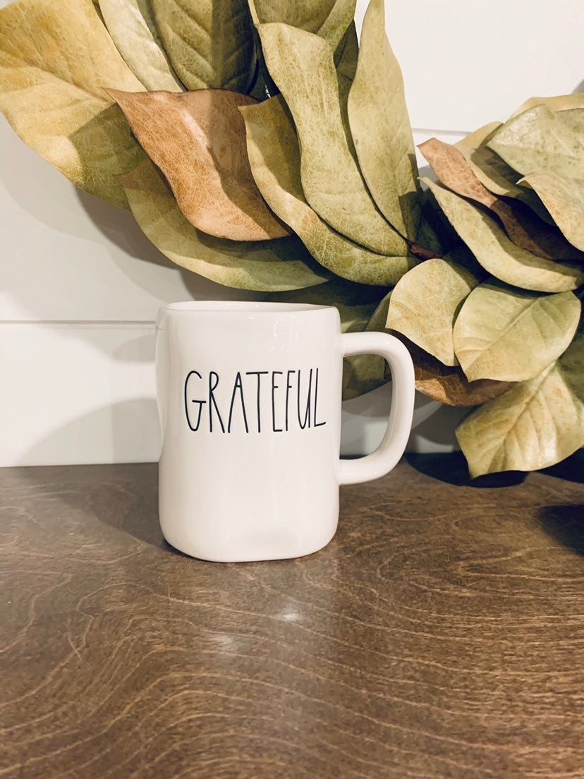 HTF! Rae Dunn GRATEFUL Mug!