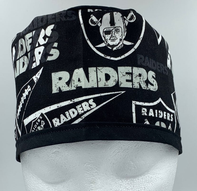 Las Vegas Raiders Scrub cap/nurse/ chef