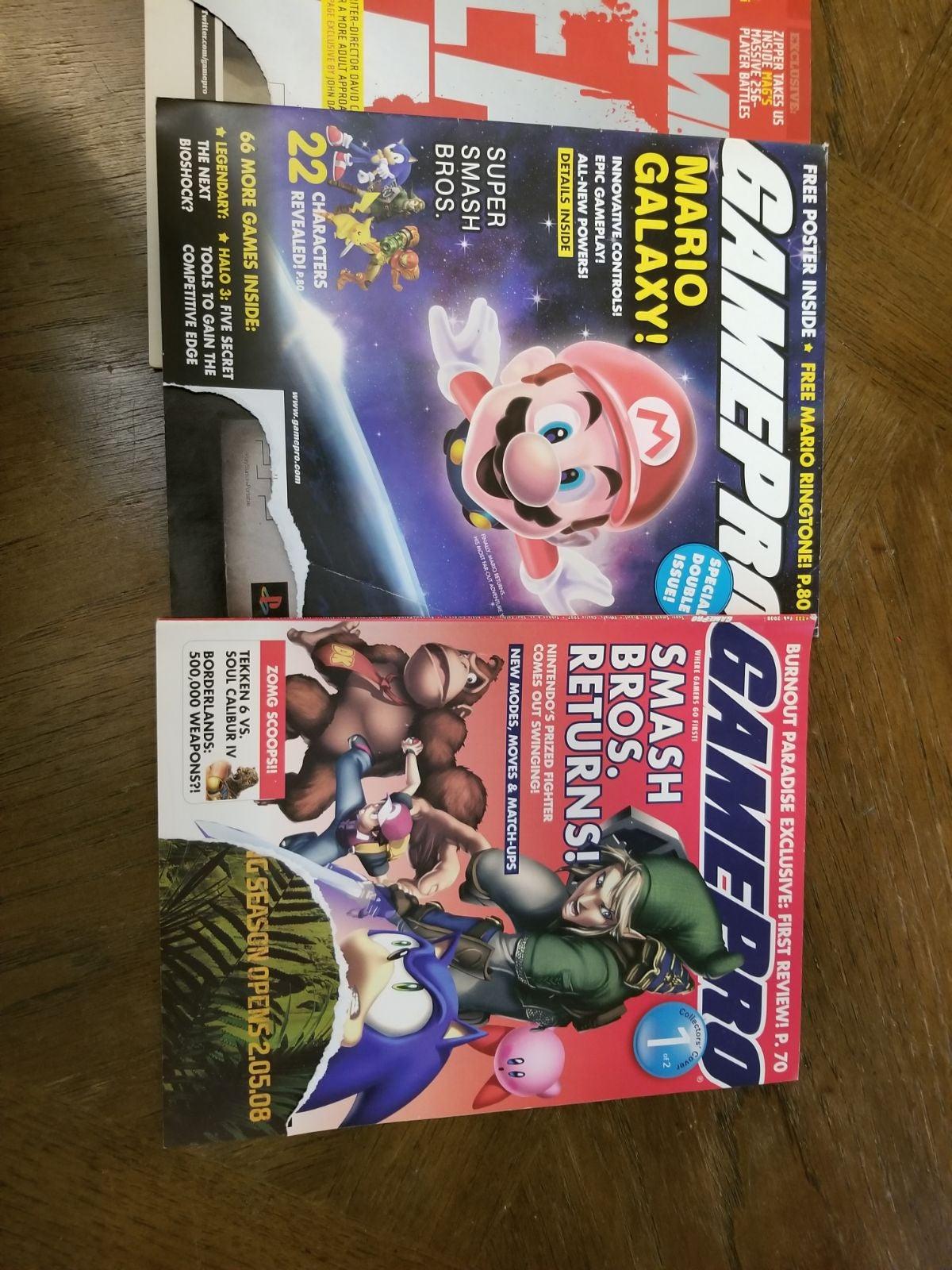 GamePro Magazines x3 Mario Galaxy,Smash