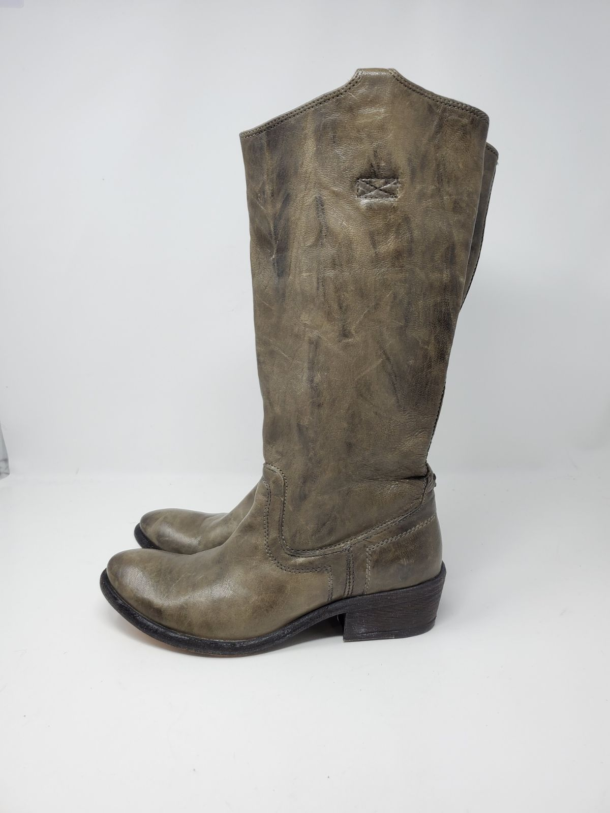 FRYE LEATHER PULL ON RIDING BOOTS